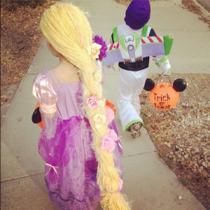 Rapunzel and Buzz